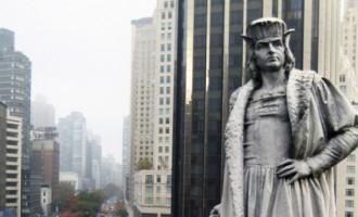 """Nueva York debate si debe retirar una estatua de Colón por ser un posible """"símbolo de odio""""<br><span style='color:#006EAF;font-size:12px;'>SER ESPAÑOL ES UN CRIMEN DE ODIO </span>"""