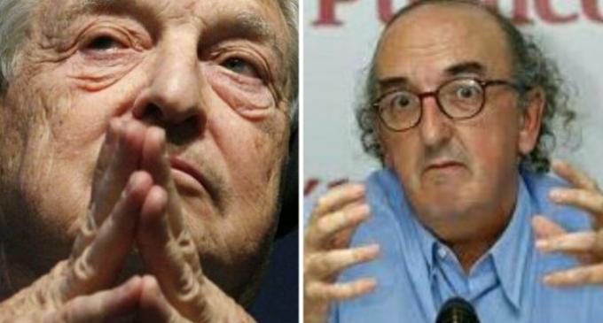 Soros y Roures, dos multimillonarios izquierdistas que financian y apoyan al separatismo catalán<br><span style='color:#006EAF;font-size:12px;'>¿POR QUÉ SOROS Y ROURES COMPARTEN SU ODIO A ESPAÑA?</span>